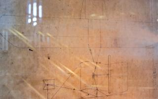 The Wright Brother's 1903 drawing Franklin Airshow exhibit at The Franklin Institute.
