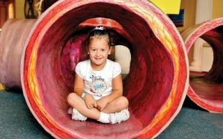 Crawl through an artery in the Giant Heart exhibit at The Franklin Institute.