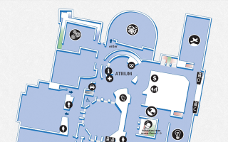 Map of the second floor of The Franklin Institute.