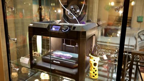 One of the Tech Studio 3D printers in action